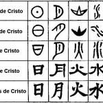 Os primeiros caracteres chineses conhecidos são as inscrições oraculares gravadas em ossos de animais datadas do reino Shang, há mais de 3000 anos.
