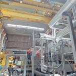 As turbinas do futuro submarino nuclear são avaliadas no Laboratório de Testes de Equipamentos de Propulsão, um dos prédios do CEA