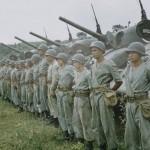 Os primeiros carros de combate M-4 Sherman chegaram ao Brasil em plena Segunda Guerra Mundial, 1943, para equipar unidades recém criadas no Exército Brasileiro, como a Companhia Escola de Carros de Combate Médio.