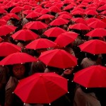 red-umbrellas-a caminho da escola