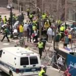 Na linha de chegada da maratona, vítimas ensanguentadas