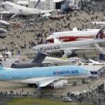 Exposição de fabricantes  de produtos aeronáuticos