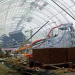 Imensa quantidade de aço na construção. Chengdu - Global Center