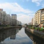 One of Kunming's waterways.  These generally drain southward to Lake Dian.