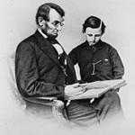 166px-A&TLincoln-Foto de 1864 do presidente Lincoln com seu filho mais novo, Tad