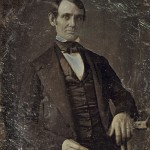 473px-Abraham_Lincoln_by_Nicholas_Shepherd,_1846-crop idade 30 anos aprox.