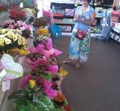 Maria Célia e as flores